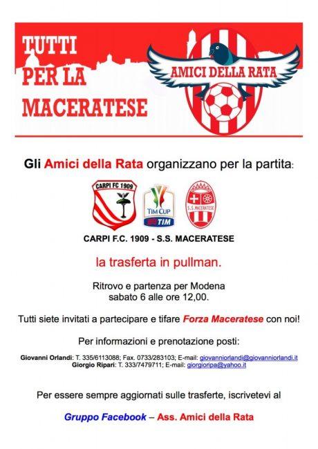 Gli Amici della Rata stanno organizzando la trasferta di Modena