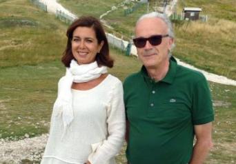 Laura Boldrini la scorsa estate in vacanza a Ussita