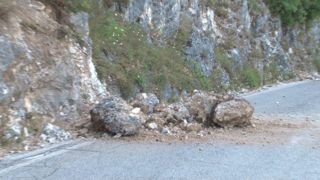 Frana tra Ussita e Castelsantangelo