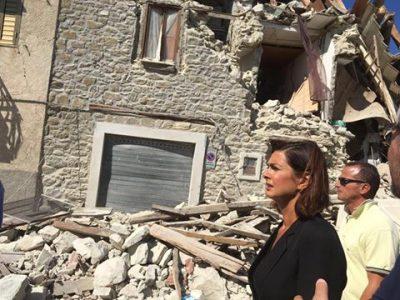Laura Boldrini a Pescara del Tronto