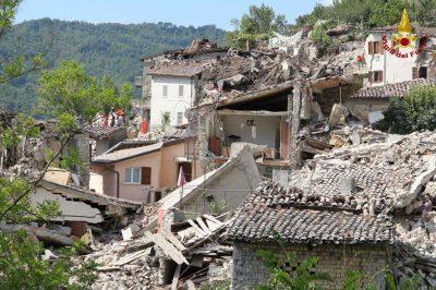 I danni a Pescara del Tronto