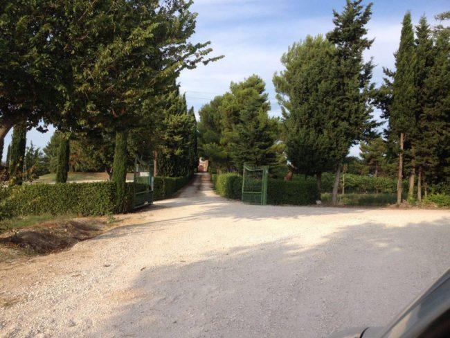 La villa dove è stato trovato il 27enne