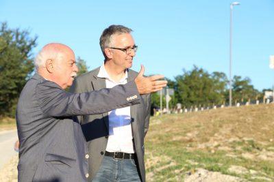 Antonio Pettinari con il governatore Luca Ceriscioli
