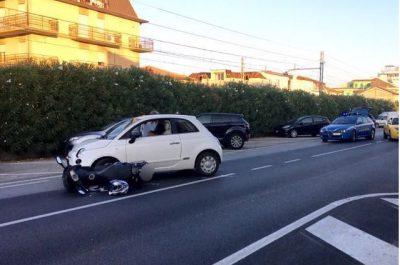 L'incidente in via Cristoforo Colombo