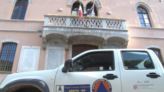 Il palazzo comunale di Ussita