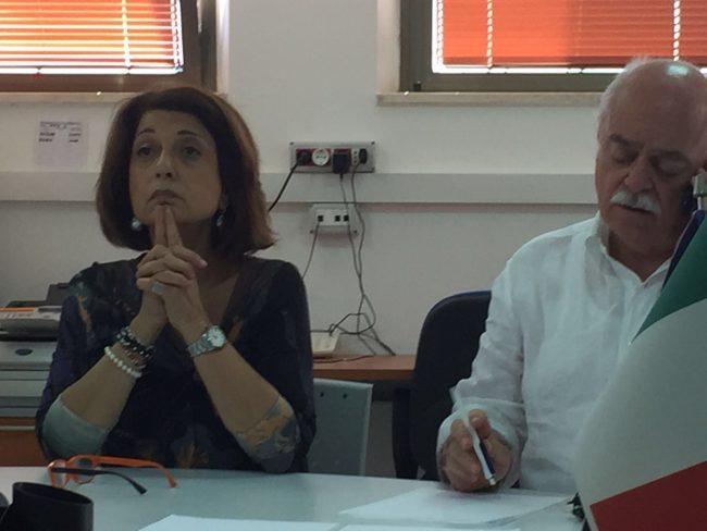Il prefetto Roberta Preziotti e il presidente della Provincia Antonio Pettinari nella riunione della Soi