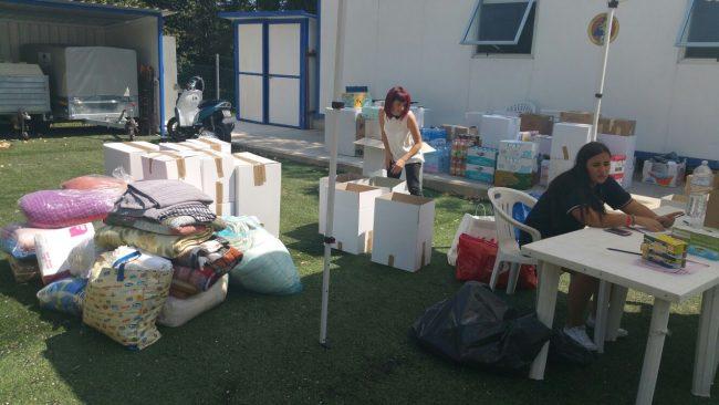 La raccolta di beni di prima necessità a Recanati
