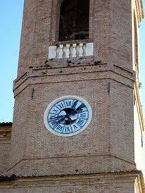 L'orologio lesionato a Camerino