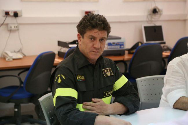 Il vice comandante dei vigili del fuoco Mattiacci al Soi