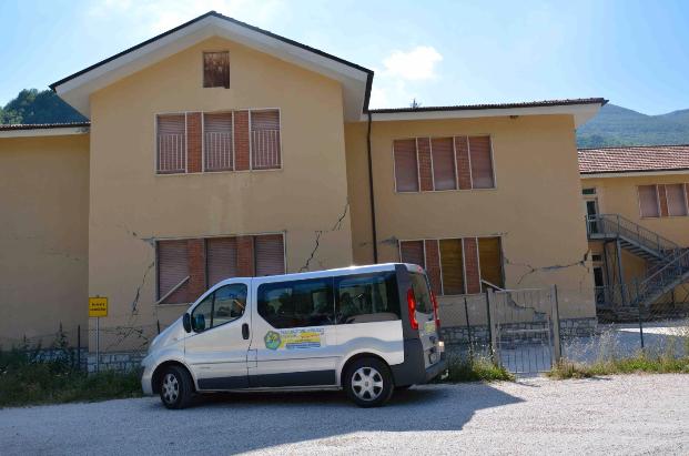 Edificio scolastico danneggiato a Pretare, Arquata del Tronto