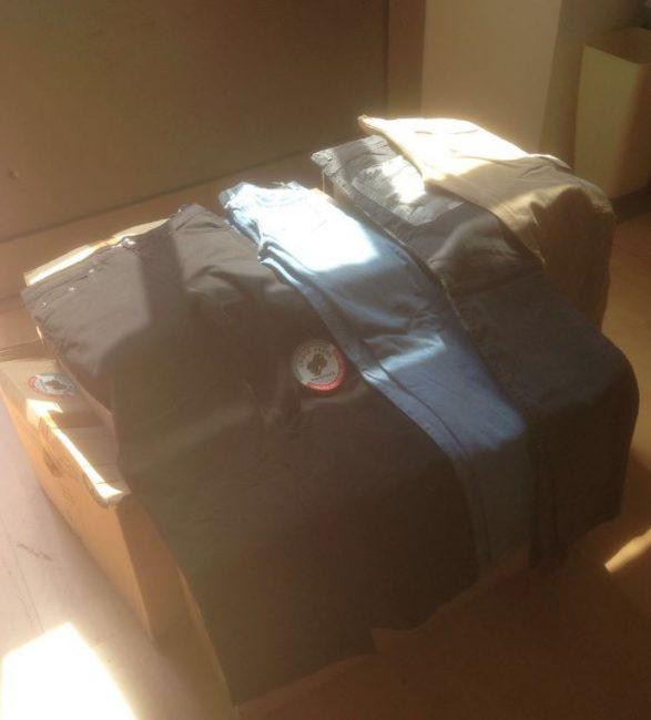 I jeans donati dalla commerciante maceratese