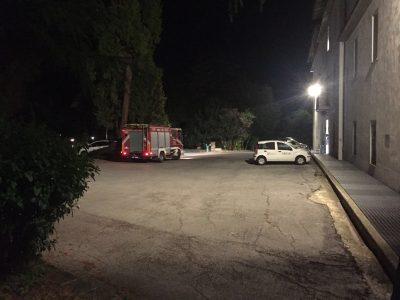 I vigili del fuoco alla casa di riposo Villa Cozza