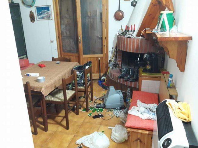 Un interno di una casa a Ussita