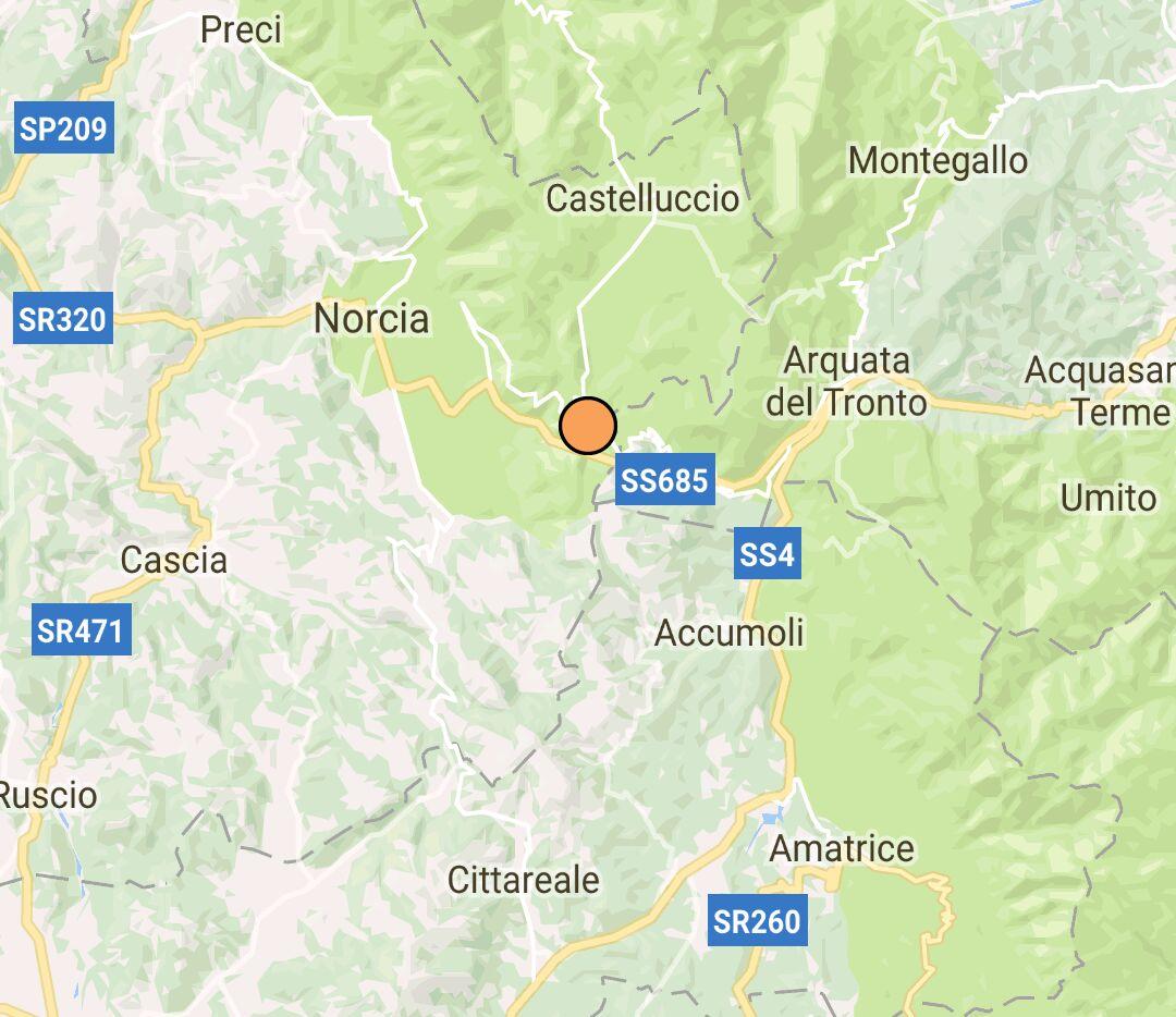 Notte di scosse nelle aree terremotate, la più forte di 3.2