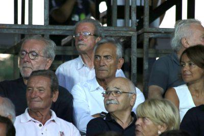 Giovanni Gravina, presidente Lega Pro in tribuna