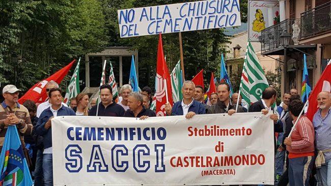La scorsa settimana la protesta dei lavoratori della Sacci