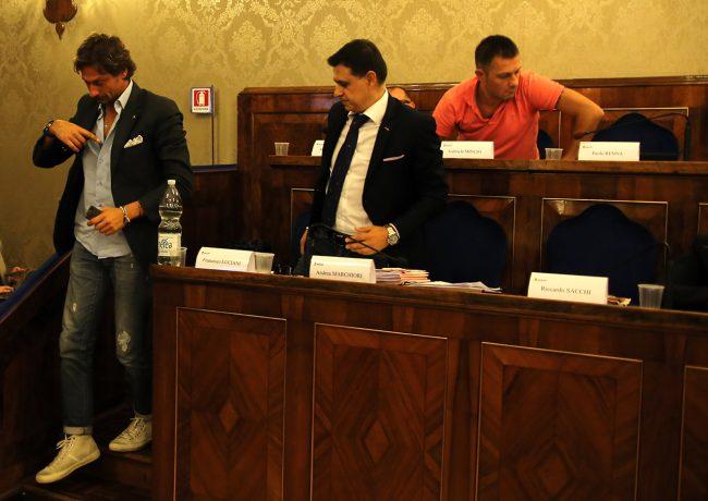 Francesco Luciani e Andrea Marchiori lasciano l'aula
