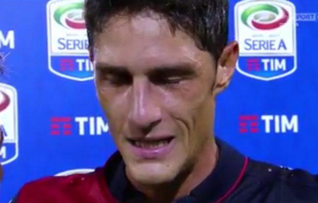L'emozione di Federico Melchiorri questa sera nell'intervista post partita
