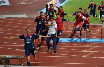 L'esultanza di Federico Palmieri dopo il gol al 93' di sabato a Padova (foto di Fabiola Monachesi)