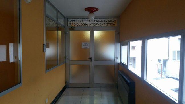 L'ingresso di radiologia interventistica nell'ospedale di Macerata