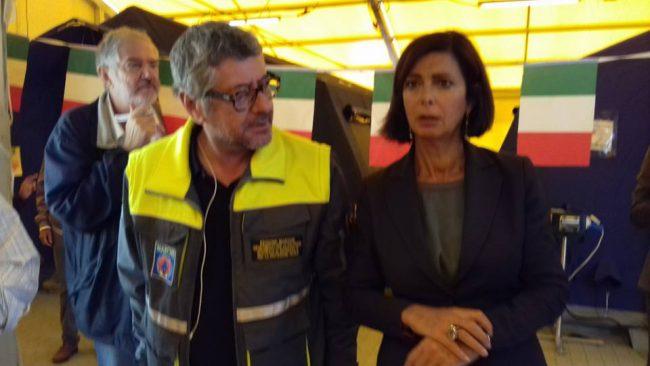 Boldrini e Cesare Spuri, capo dipartimento della Protezione civile delle Marche