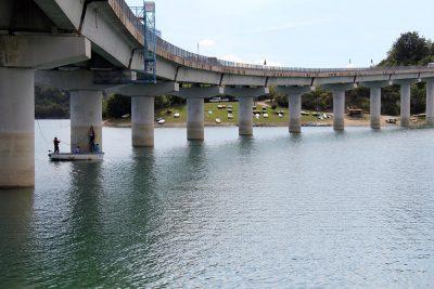 Il viadotto del lago di Cingoli