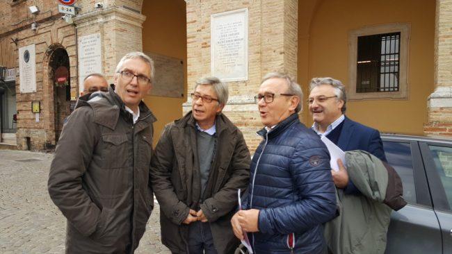 Luca Ceriscioli, Vasco Errani e il sindaco Franco Capponi