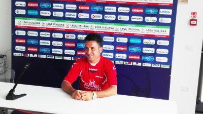 Beppe Magi, allenatore del Gubbio ed ex Maceratese