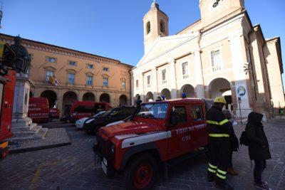 I vigili del fuoco a Camerino