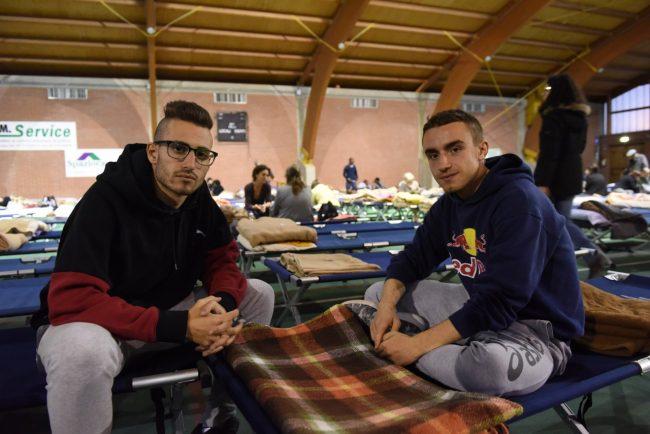 Gli studenti Matteo Micarelli e Domenico Pagnotta