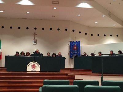 La sala Verdi del Consiglio comunale di Cingoli