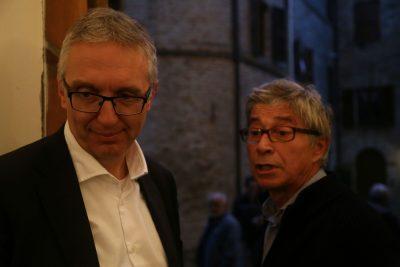 Il presidente della Regione Luca Ceriscioli e Vasco Errani