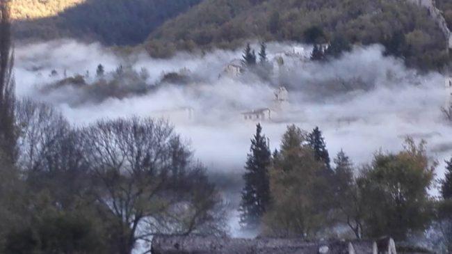 La polvere post sisma a Castelsantangelo