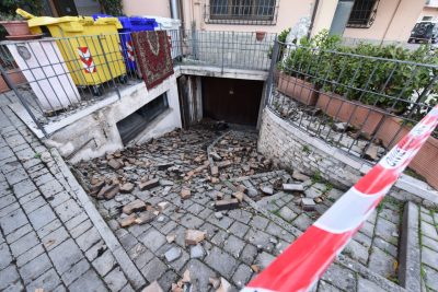 Crolli a Muccia dopo il sisma del 30 ottobre