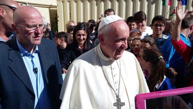 Il papa in visita d Arquata