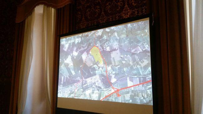 Cerchiata in rosso, l'area individuata alla Pieve