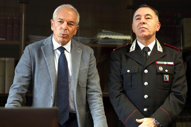 Il procuratore Giovanni Giorgio e il capitano Raffaele Conforti