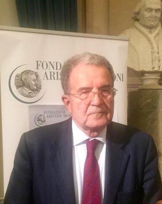 Romano Prodi ieri ad Ancona