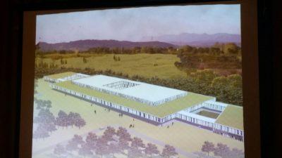 Il rendering del progetto di ospedale a La Pieve