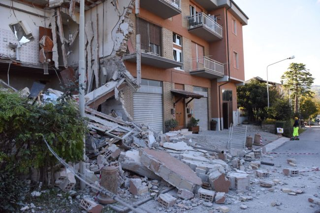 San Severino è una delle città più colpite dal terremoto di domenica scorsa