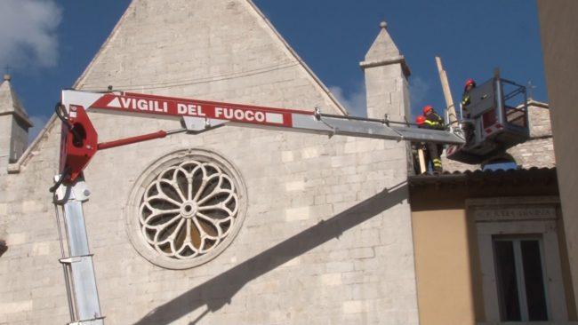 Messa in sicurezza della chiesa di Visso