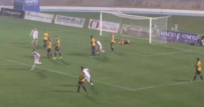 Matteo Colombi realizza il gol del momentaneo vantaggio