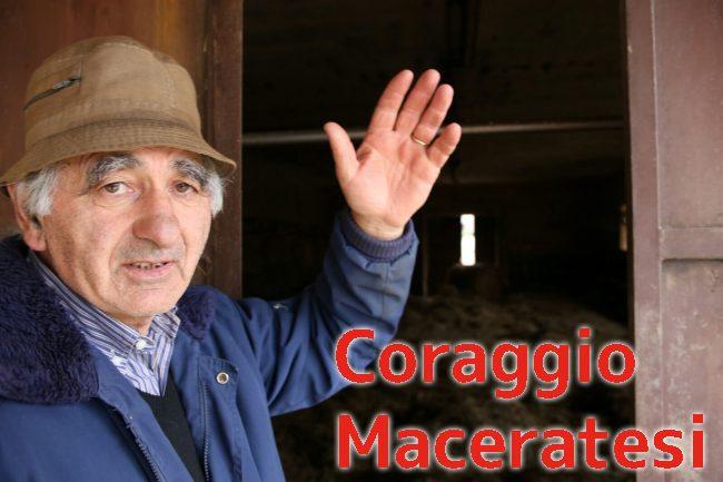 """Lamberto Sbardellati, allevatore di Visso, ha raccontato la sua storia a CM: """"Non ho più niente"""" (foto Benfatto)"""