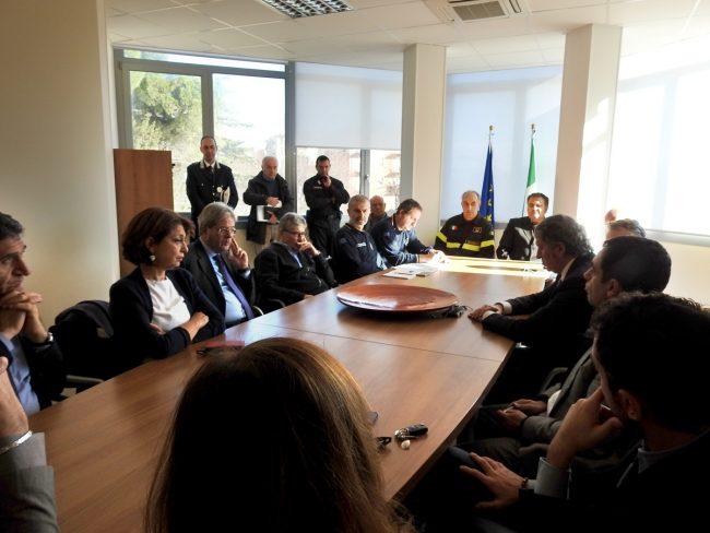 La riunione nell'Ufficio urbanistica