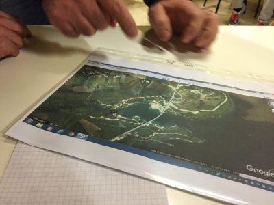 La mappa della viabilità alternativa in caso di abbassamento del livello dell'acqua del lago