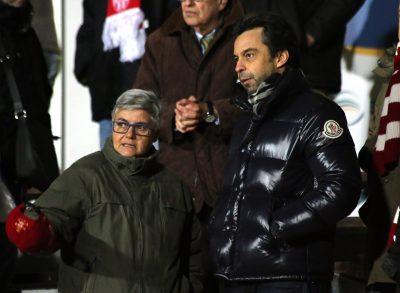 Maria Francesca Tardella in tribuna con Massimo Nascimbeni