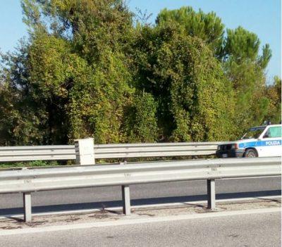 L'autovelox posizionato questa mattina a Montecosaro