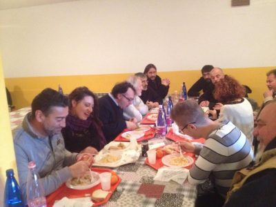 Il pranzo con Simone Tardella, assessore del comune di San Ginesio