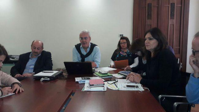 Il sindaco Romano Carancini con gli assessori Ricotta, Marcolini e Monteverde