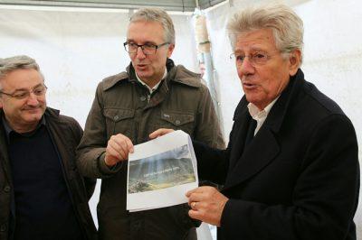 Adolfo Guzzini con il presidente Ceriscioli e l'assessore Sciapichetti